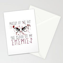Makeup of the day: The blood of my enemies | Viking design Stationery Cards