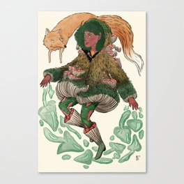 Fungi Witch Canvas Print