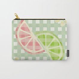 Citrus & Gingham Carry-All Pouch