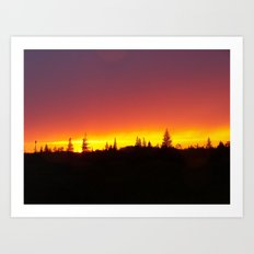Striking Sunset Art Print