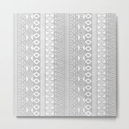 Adobe in Grey Metal Print
