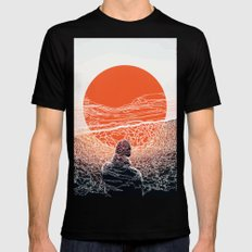sunset MEDIUM Mens Fitted Tee Black