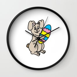 Easter Bunny And Egg Wall Clock