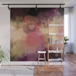 Modern Contemporary Ultra Violet Glow Abstract Wall Mural