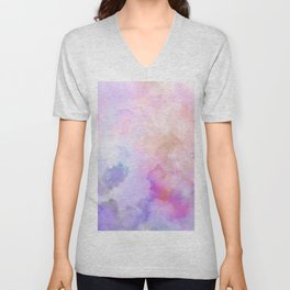 Pastel Clouds-Pink and Blue #homedecor Unisex V-Neck