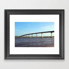 Bridge To Sunset Beach Framed Art Print