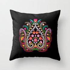 folk damask Throw Pillow