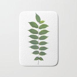 Green Leaf Botanical Print Bath Mat