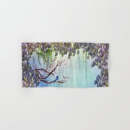 Purple Wisteria Springtime Hand & Bath Towel