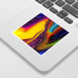Melting Pot of Colors Abstract Sticker