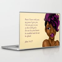 scripture Laptop & iPad Skins featuring Splash of Color (with scripture) by RM2 Designs