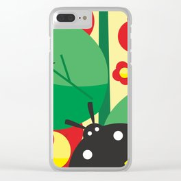 Ladybug, flowers and leaves #society6 #decor #buyart #artprint Clear iPhone Case