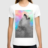hobbes T-shirts featuring Breathing Dreams Like Air (Wolf Howl Abstract II: Gray) by soaring anchor designs