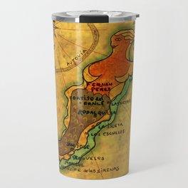 Map Mermaid Cabo de Gata Travel Mug