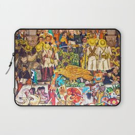 History of Mexico by Diego Rivera Laptop Sleeve