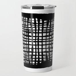 black and white screen Travel Mug