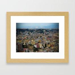 Napoli view Framed Art Print