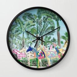 Painted Ponies Wall Clock