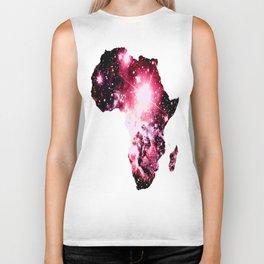 Pink Nebula Galaxy Africa Biker Tank