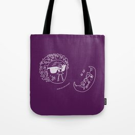 Sun & Moon, Purple Tote Bag
