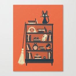 Ghibli Shelf // Miyazaki Canvas Print