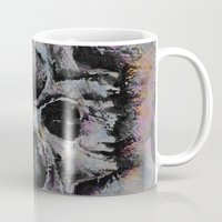 medieval Mugs featuring Medieval Skull by Michael Creese