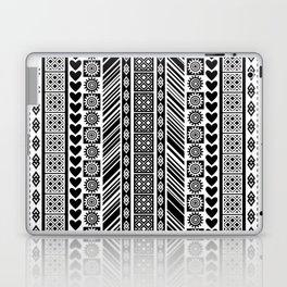Black and White Adinkra Symbol African Print Pattern Laptop & iPad Skin