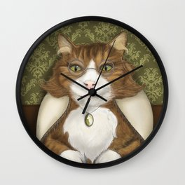 Grand-mère Chat Wall Clock