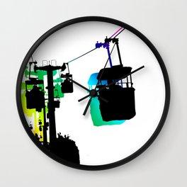 Amusement Park Sky Ride Wall Clock