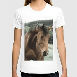 vintage horse animal painting art T-shirt