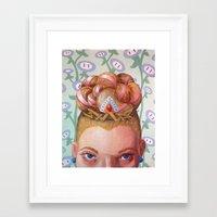 princess peach Framed Art Prints featuring Princess Peach by Jodi Hoover Art