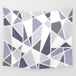 Geometric Pattern in purple and gray Wall Tapestry
