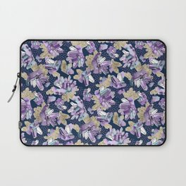 Amethyst Crystal Clusters / Violet, Blue and Gold Laptop Sleeve