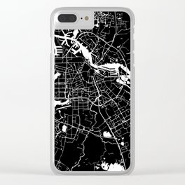 Amsterdam Black on White Street Map Clear iPhone Case