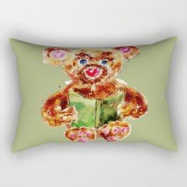 Painted Teddy Bear Rectangular Pillow