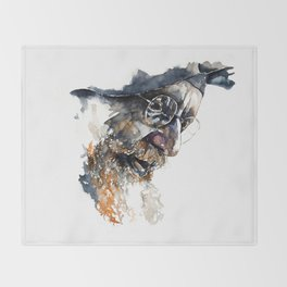 FACE#4 Throw Blanket