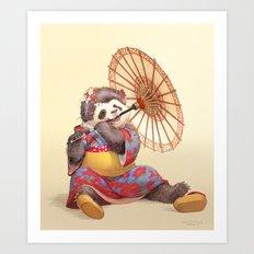Panda Geisha Art Print