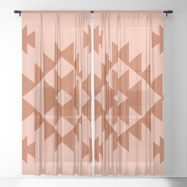Zili in Peach Sheer Curtain