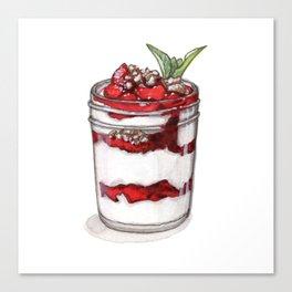 Desserts: Yogurt Parfait Canvas Print