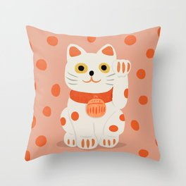 Abstraction_Lucky_Charm_Cat Throw Pillow