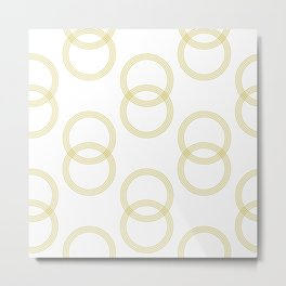 Simply Infinity Link Mod Yellow and White Metal Print