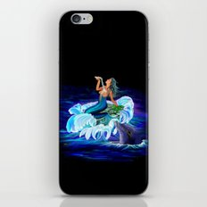 Mermaid with Dolphin iPhone & iPod Skin