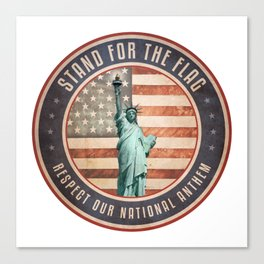 Stand For The Flag Canvas Print