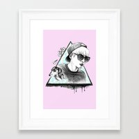 shinee Framed Art Prints featuring SHINee realjonghyun90  by sophillustration