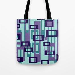 Geometric rectangles pattern violet Tote Bag
