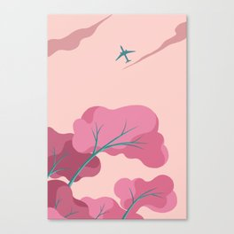 Aeroplane in the Evening Sky Canvas Print