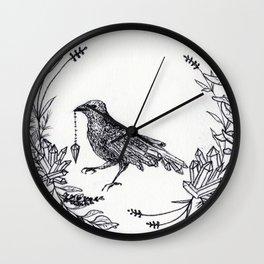 Crystal Raven Wall Clock
