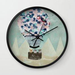 a kitten adventure Wall Clock