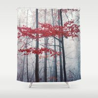 woodland Shower Curtains featuring Woodland Fantasy by Olivia Joy StClaire