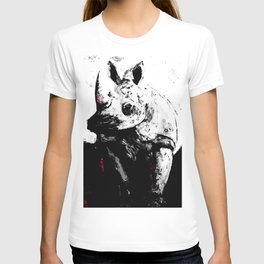 Cerato Gray in Black and White with Red Pop T-shirt